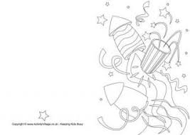 card for new year new year colouring cards
