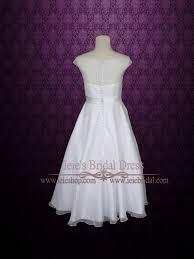 50 S Wedding Dresses Simple Yet Elegant Modest Retro 50s Tea Length White Wedding Dress