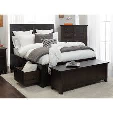 Queen Storage Beds With Drawers Jofran Kona Grove Queen Storage Bed With Drawers In Chocolate