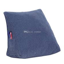 fluffy firm down alternative filled triangle wedge cushion pillow
