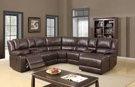 Motion Sectional Sofa U96180 Motion Sectional Sofa In Brown Bonded Leather By Global
