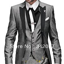Country Style Wedding Tuxedos Grey And Purple Wedding Suits For Men White And Purple Wedding