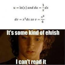 Calculus Meme - image mathjoke funnypics haha humor math mathmeme meme lotr