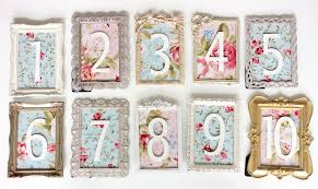 table numbers for wedding wedding wednesday vintage table number diy