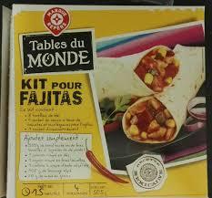 kit cuisine du monde kit pour fajitas tables du monde 504 g