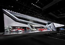 delugan meissl porsche museum audi paris motor show 14 trade fair stand if design gold