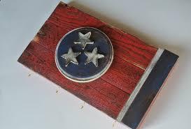 Tennesse Flag 3d Tennessee Flag Key Rack Distressed Reclaimed Wood
