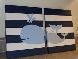 whale nursery wall art baby boy whale decor baby boy