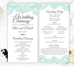 printed wedding programs mint green lace wedding programs printed on shimmer paper