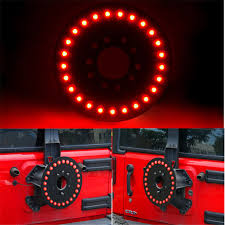 3rd brake light led ring 3rd spare tire brake light led ring for 97 17 jeep wrangler jk tj