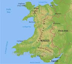 Wales England Map by Wales Physical Map