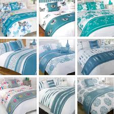 5 piece complete duvet cover bedding set single double king kingsize super size