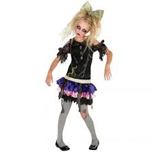 Girls Ghost Halloween Costume Kids Girls Creepy Zombie Ghost Doll Halloween Costume Medium Ebay