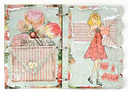 What Side Do Stamps Go On by Scrap Escape Prima Julie Nutting Doll Stamps And Chipboard Book