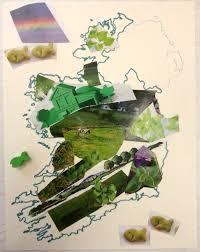 green shamrock collage choices for children