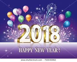 happy new year backdrop postcard happy new year 2018 against stock vector 755030962