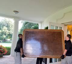White House Oval Office Desk by Dan Scavino Jr On Twitter