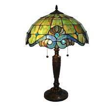 warehouse of tiffany peacock 25 in bronze stained glass table