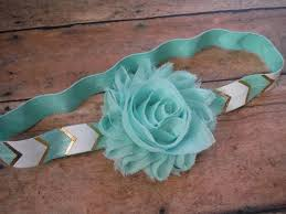 mint green headband mint green headband mint gold and white by charminglittlebaby baby