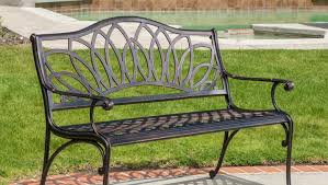 Curved Outdoor Benches Bench Pretty Hummingbird Cast Aluminum Garden Bench Superb