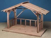 how to build wood nativity stable crafty nativity