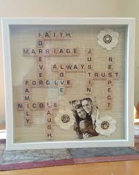 wedding gift diy scrabble wedding gift in a shadow box diy weddings