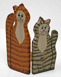 small wooden cats folding screen signs ornaments home decor