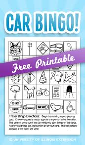 great busy activity for family car rides car bingo free