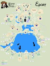 Epcot Center Map Epcot Character Locations Map Kennythepirate U0027s Unofficial Guide