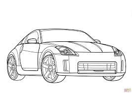 nissan 350z car coloring transportation sports cars