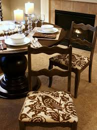 Kitchen Chair Seat Replacement How To Re Cover A Dining Room Chair Hgtv