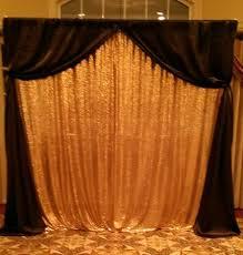 Black Backdrop Curtains Rentals