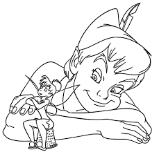 peter pan tinker bell coloring pages at and tinkerbell glum me