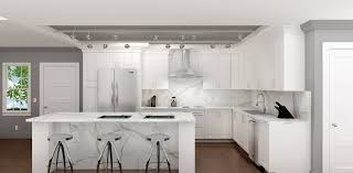 interior design contemporary kitchen statuario white marble