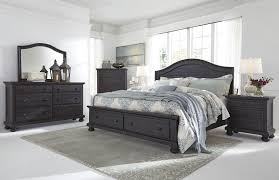 King Storage Bed Frame Sharlowe Charcoal Storage Panel Bedroom Set
