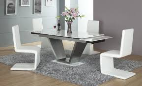 Modern White Chairs Ultra Modern Dining Room Sets Mannycartoon Intended For Ultra