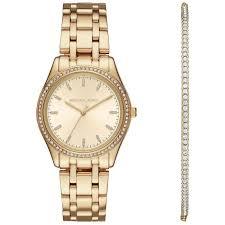 bracelet gold watches images Ladies 39 michael kors kiley gold tone watch and bracelet set item jpg