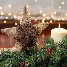 tree toppers for christmas trees rustic jute and twig tree topper christmas trees and