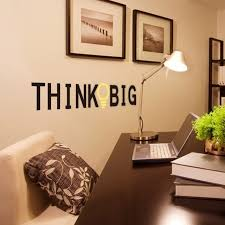 home decor study room think big english proverbs home decor pvc wall stickers living