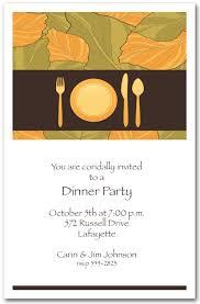 place setting autumn leaves dinner invitations