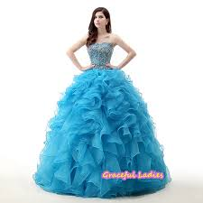 blue luxury cheap quinceanera gowns dress for 15 years floor