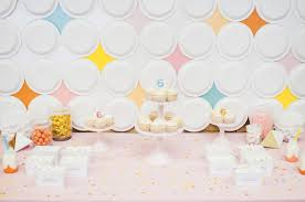how to make a retro paper plate backdrop