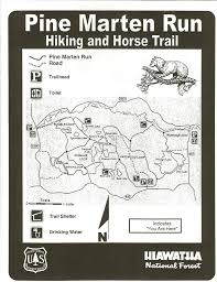 Michigan Trail Maps by Hannahville Learn And Serve Pine Marten Run