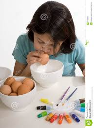 Easter Egg Decorating Blown Eggs by Easter Egg Blow Out Stock Photos Image 4362923