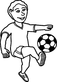 kick ball boy coloring page wecoloringpage