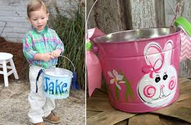 painted easter buckets groopdealz personalized painted easter 5 colors