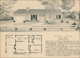home service plans two bedroom mid century ranch home building plan service