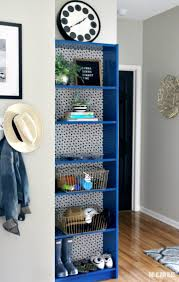 Mudroom Furniture Ikea by Ikea Hack Bookcase Makeover With Wallpaper U0026 Paint This Is Our