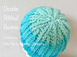 double ribbed beanie pattern by little panda mommy beanie