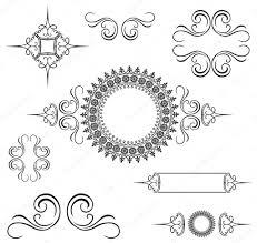 vector decorative swirl ornament set stock vector createfirst